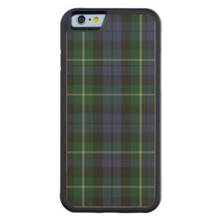 Campbell Clan Plaid Pattern Wooden iPhone 6 Case