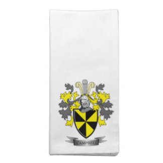 Campbell Family Crest Coat of Arms Napkin