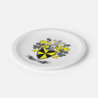 Campbell Family Crest Coat of Arms Paper Plate