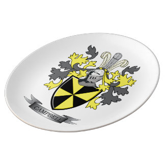 Campbell Family Crest Coat of Arms Plate