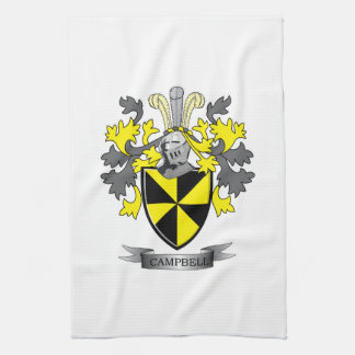 Campbell Family Crest Coat of Arms Tea Towel