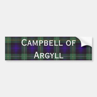 Campbell of Argyll Scottish Tartan Bumper Sticker