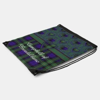 Campbell of Breadalbane Plaid Scottish tartan Drawstring Bag