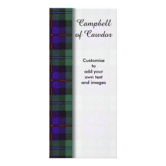 Campbell of Cawdor clan Plaid Scottish tartan Custom Rack Cards