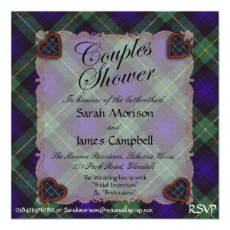 Campbell of Cawdor tartan Plaid - Couples shower Card