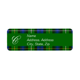 Campbell Plaid Tartan Address Label