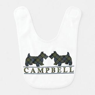 Campbell Scottie Dogs Scottish Tartan Bib