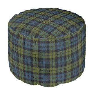 Campbell Scottish Style Blue Green Tartan Pouf