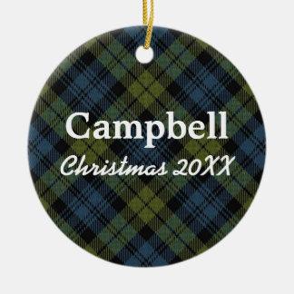 Campbell Scottish Tartan Ceramic Ornament