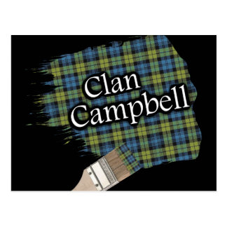 Campbell Scottish Tartan Paint Brush Postcard
