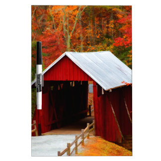 campbells covered bridge dry erase board