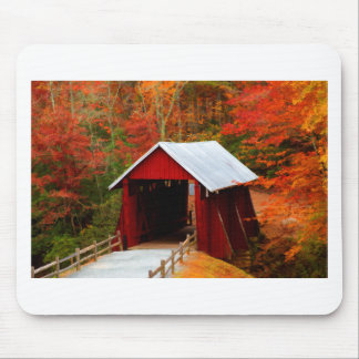 campbells covered bridge mouse pad