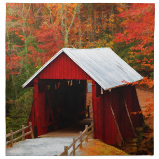 campbells covered bridge napkin