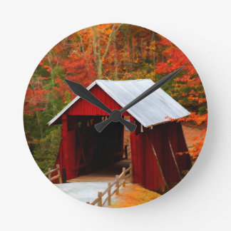 campbells covered bridge round clock