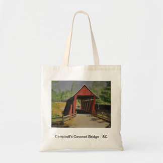 Campbell's Covered Bridge - South Carolina Budget Tote Bag