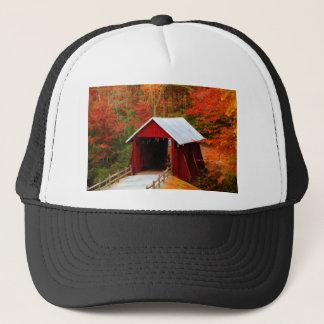 campbells covered bridge trucker hat