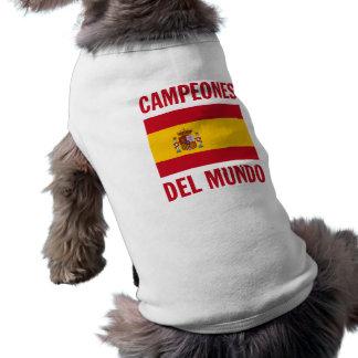 CAMPEONES DEL MUNDO SLEEVELESS DOG SHIRT