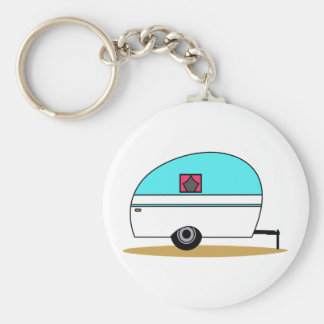 Camper Basic Round Button Key Ring