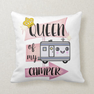 Camper Camping Funny RVing Lifestyle Pillow