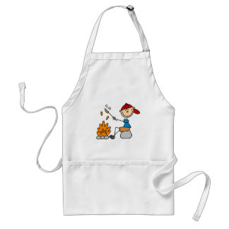 Camper Roasting Hot Dogs Tshirts and Gifts Adult Apron