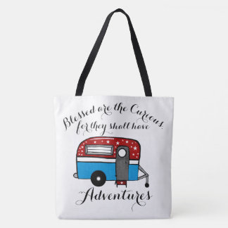 Camper Tote Blessed Are The Curious