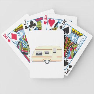 Camper Trailer Camping Van Bicycle Playing Cards