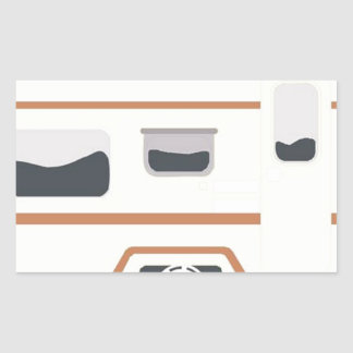 Camper Trailer Camping Van Rectangular Sticker