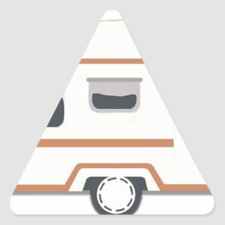 Camper Trailer Camping Van Triangle Sticker