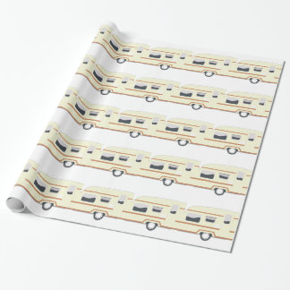 Camper Trailer Camping Van Wrapping Paper