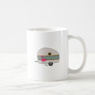 Camper With Flamingo Coffee Mug