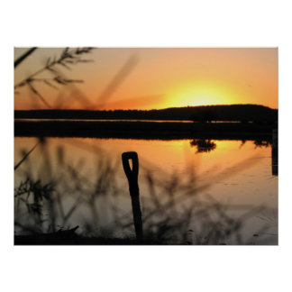 campers sun set beauty print