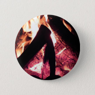Campfire at night 6 cm round badge