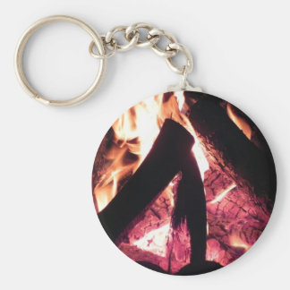 Campfire at night key ring