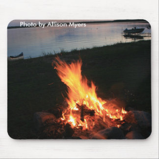 Campfire at Sunset Mouse Pad