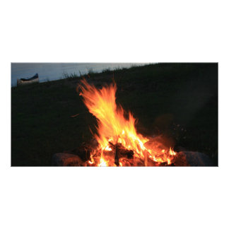 Campfire at Sunset Photo Cards