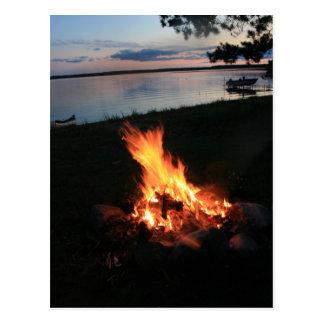 Campfire at Sunset Postcard