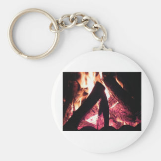 Campfire Basic Round Button Key Ring