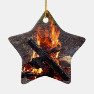 Campfire Ceramic Ornament