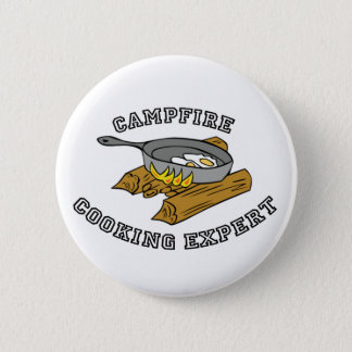 Campfire Cooking Expert 6 Cm Round Badge
