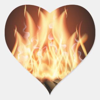 Campfire Heart Sticker