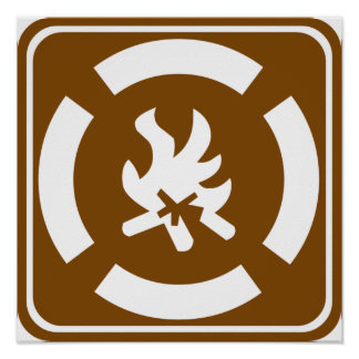 Campfire Highway Sign