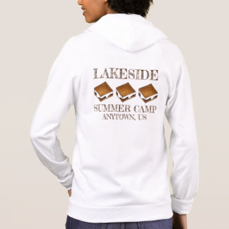 Campfire Marshmallow S'mores Summer Camp Counselor Hoodie