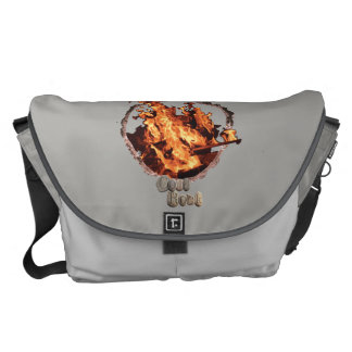 Campfire messenger bag. courier bag