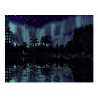 Campfire reflection postcard