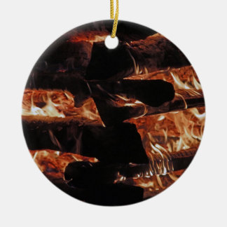 Campfire Round Ceramic Decoration