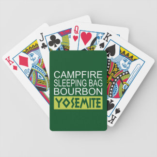 Campfire Sleeping Bag Bourbon Yosemite Bicycle Playing Cards