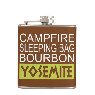 Campfire Sleeping Bag Bourbon Yosemite Hip Flask