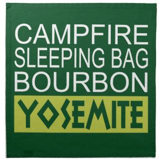 Campfire Sleeping Bag Bourbon Yosemite Napkin