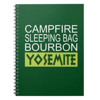 Campfire Sleeping Bag Bourbon Yosemite Notebook