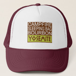 Campfire Sleeping Bag Bourbon Yosemite Trucker Hat